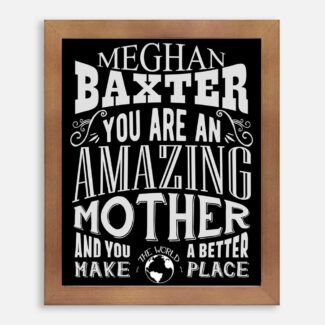 Mother Amazing Custom Gift For New Mother From Grandma Gift From Husband Typography Personalized #1195