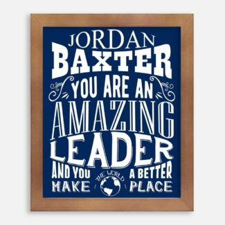 Leader Amazing Custom Gift For Visionary Corporate Trailblazer Chief Principal Typography Personalized #1234