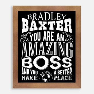 Boss Amazing Custom Gift for Boss Supervior Manager Foreman Birthday Typography Personalized #1258