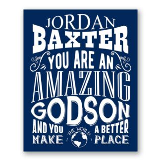 Godson Amazing Custom Plaque Tin Sign Gift From Godparent To God Son From Godmother Typography Personalized Metal Art Print #1325