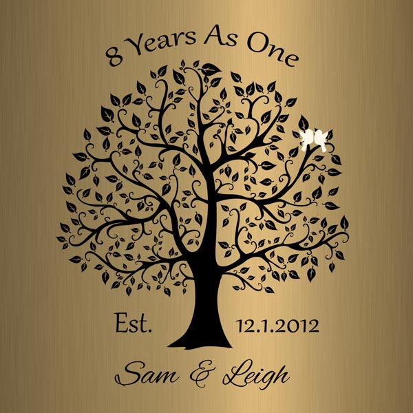 Personalized 8 Year Anniversary Gift Custom Art Proof for Sam S.