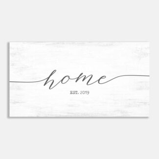 Home Established Date Entryway Wall Decor