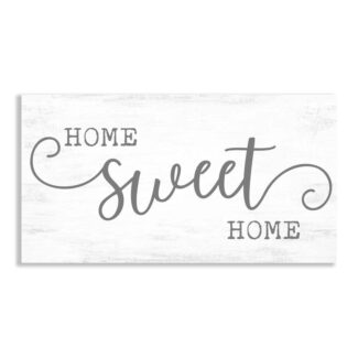 Home Sweet Home Typography Farmhouse Sign