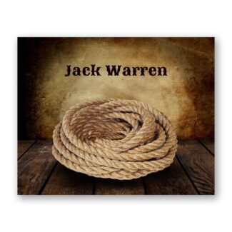 Cowboy Lasso Rope on Wood Table